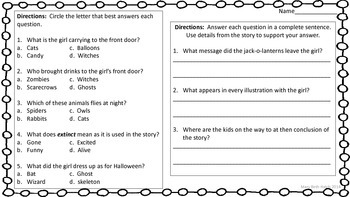 Who Will Haunt My House on Halloween? activity set
