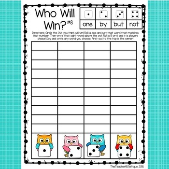 Who Will Win: Sight Word Fluency Races