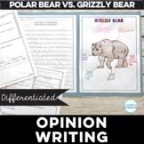 Who Wins Opinion Writing companion for Polar Bear vs. Grizzly Bear