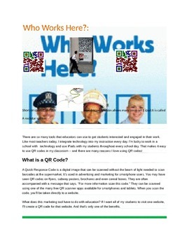 Who Works Here Concepts with Q.R.Codes