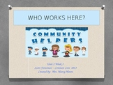 """""""Who Works Here?"""" (Instructional Guide for Reading Street 2013)"""