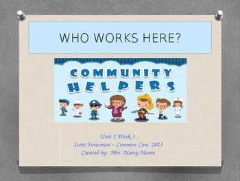 """Who Works Here?"" (Instructional Guide for Reading Street 2013)"