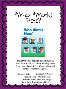Who Works Here SMARTBoard Lesson Scott Foresman Reading Street Grade 1
