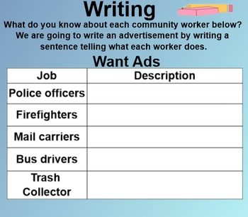 Who Works Here? SmartBoard Companion 1st First Grade