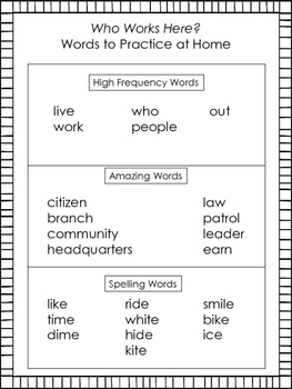 Who Works Here?---Supplemental---Reading Street 1st Grade