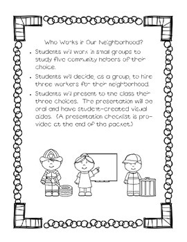 Community Helpers Project--Who Works in Our Neighborhood?