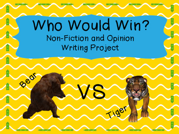 Who Would Win? A Writing Activity
