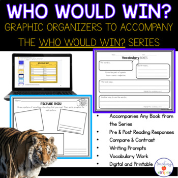 Who Would Win? Graphic Organizers to Accompany the Who Would Win? book series