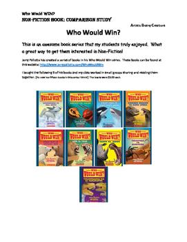 Who Would Win?  Nonfiction Book Study