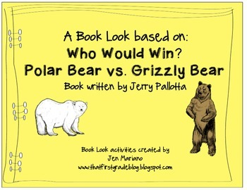 Who Would Win? Polar Bear vs Grizzly Bear-A Close Reading Book Look