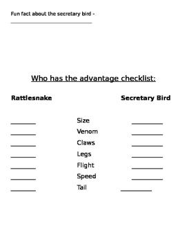 Who Would Win - Rattlesnake vs. Secretary Bird