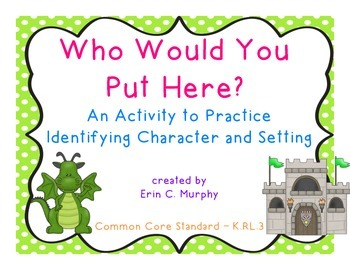Who Would You Put Here?  An activity to practice character and setting.