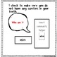 """Adapted Book """"Who Am I?"""" with comprehension check"""