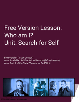 Lesson Plan Who am I? An Exploration of The Self using Les Miserables (Free)