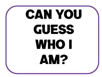 Who am I ? Biography Activity on Jesus