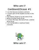 Who am I?- Continents and Oceans