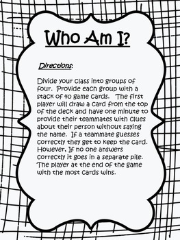Who am I- Cooperative learning game