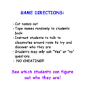 Who am I? FUN CLASS PARTY GAME!