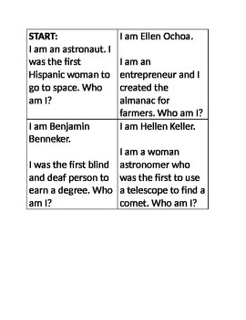 Who am I? Game-Social Studies