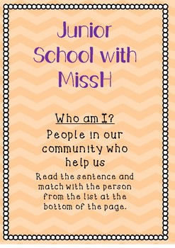Who am I? People in our community who help us