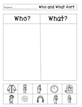 Who and What Questions--Autism/Special Education Resource