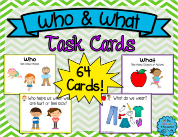 Who and What Task Cards