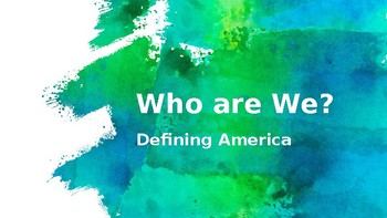 Who are We? Iroquois Creation Story and America's Identity