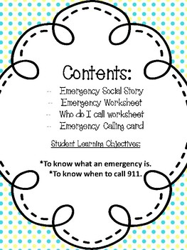 Who do I call in an Emergency?--For Special Education & Autism