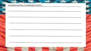 Who do you honor and remember on Memorial Day?