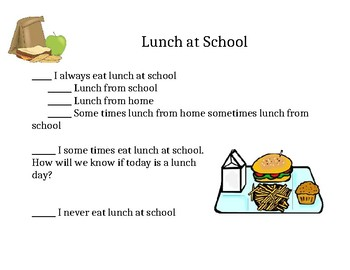 Who eats lunch at school?