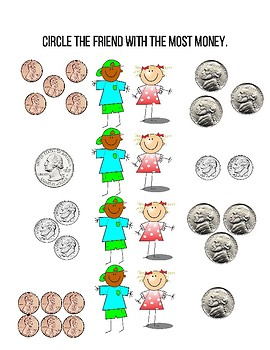 Who has more? Money Math - Coins