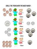 Who has more? Money Math - Coins