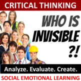 Critical Thinking Activities: Who is Invisible? ⭐ Back to