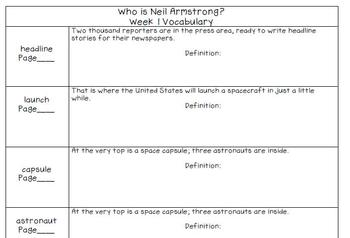 Who is Neil Armstrong? by Roberta Edwards Vocabulary