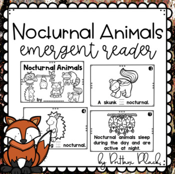 Nocturnal Animals~ emergent reader