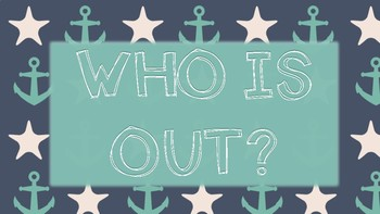 Who is Out - Nautical Themed