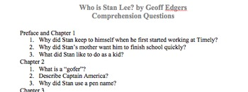Who is Stan Lee? Comprehension Questions (PDF version)