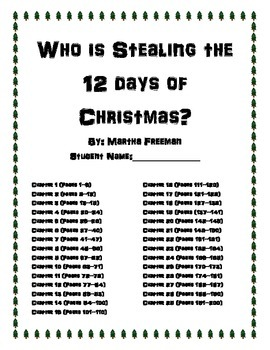 Who is Stealing the 12 Days of Christmas (Book Club with questions)
