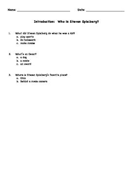 Who is Steven Spielberg? Level 2 Workbook