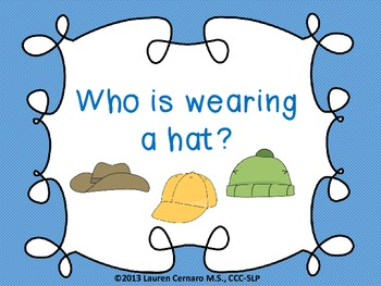 Who is Wearing a Hat?