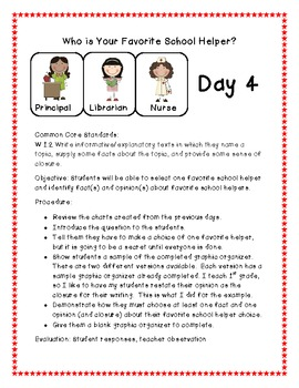 Who is Your Favorite School Helper? A Common Core Integrated Unit