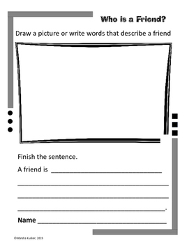 Word Work: Who is a Friend?