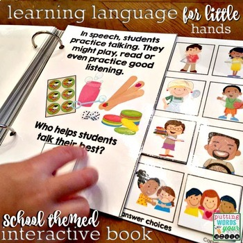 Who is at school? {An interactive book with WHO questions}