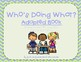 Who is Doing What? Adapted Book for Special Education or Early Learners!
