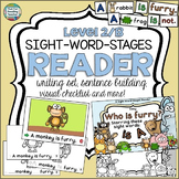 Sight Word Leveled Readers, Sentence Puzzles and Activities: Animals!