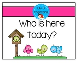 Who is here today?  Spring Edition