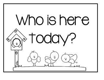 Who is here today?  - Back To School Activity