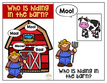 Who is hiding in the barn? Interactive Book