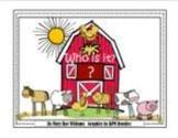 """Who is in the barn?"" farm theme sight word mini unit"