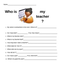 Who is my teacher? Back to school Game